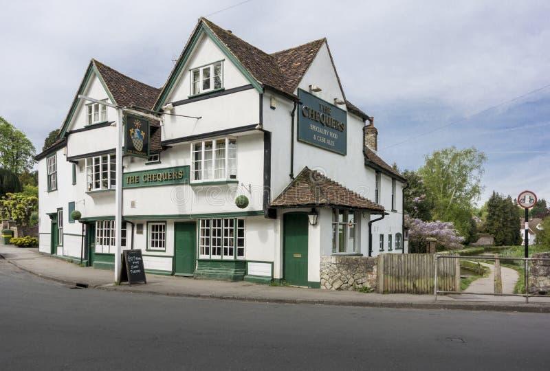 O bar dos Chequers, fraco, Kent, Reino Unido fotos de stock