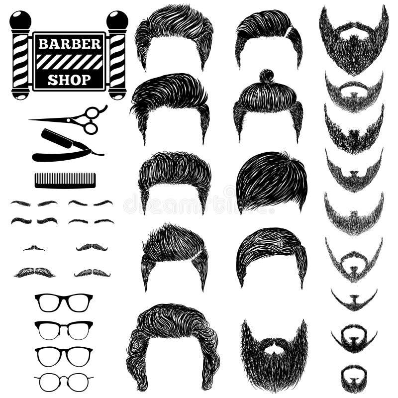 O barbeiro ajustou 1 ilustração do vetor