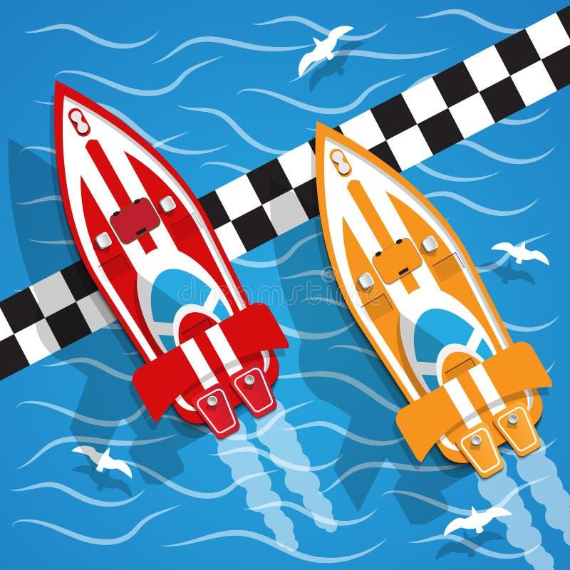 O barco de competência ilustração royalty free