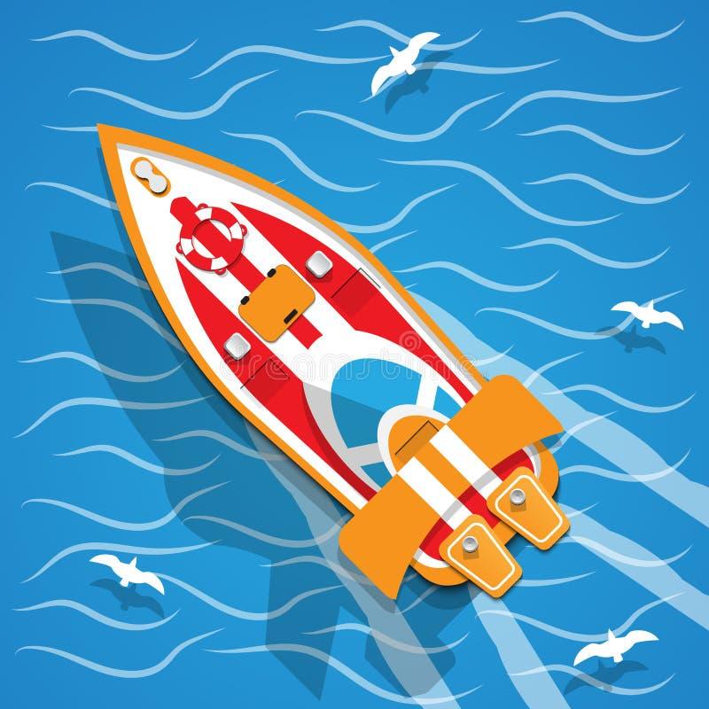 O barco de competência ilustração stock