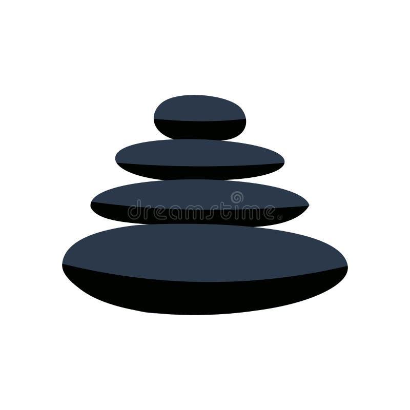 O basalto do zen apedreja o ícone liso ilustração royalty free