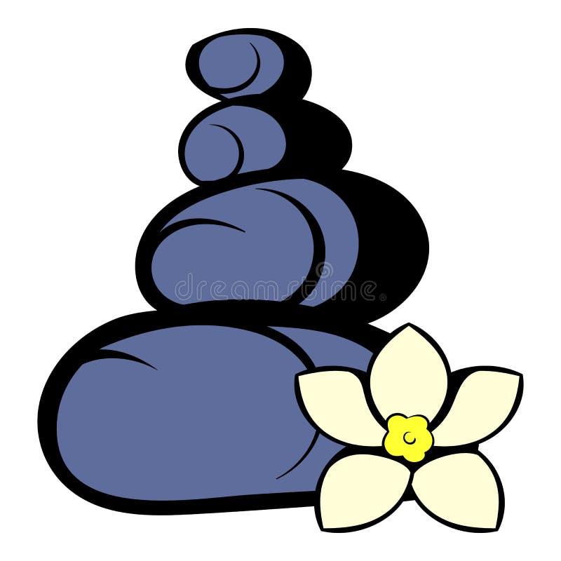 O basalto do zen apedreja o ícone, desenhos animados do ícone ilustração royalty free
