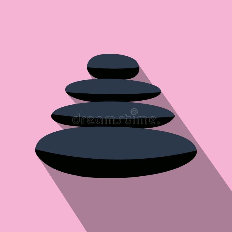 O basalto do zen apedreja o ícone liso ilustração do vetor