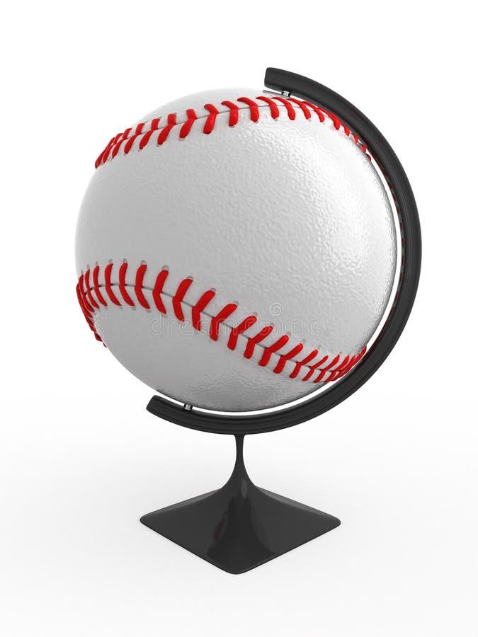 O basebol é mundo ilustração stock