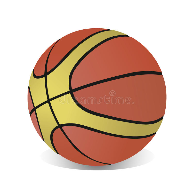O basquetebol isolou-se ilustração royalty free
