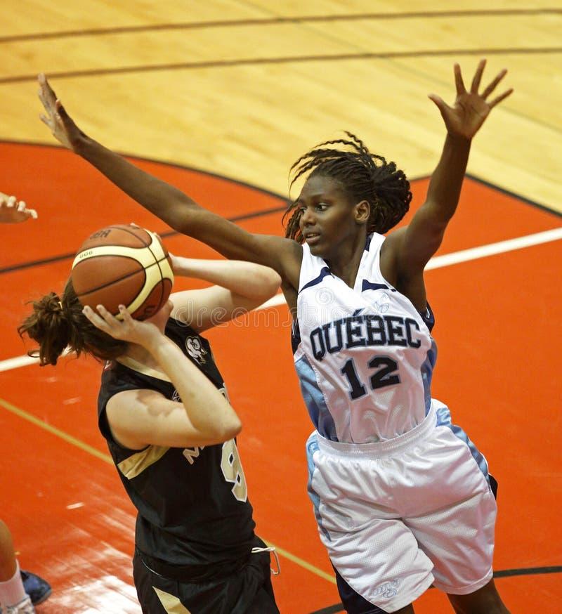 O basquetebol Quebeque defende fotografia de stock royalty free