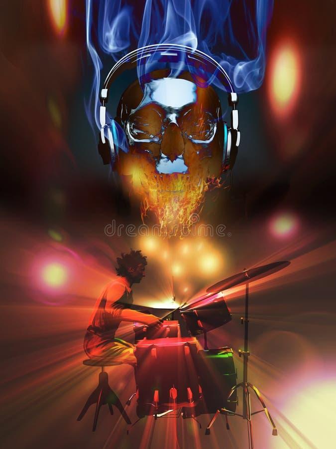 O baterista ilustração do vetor