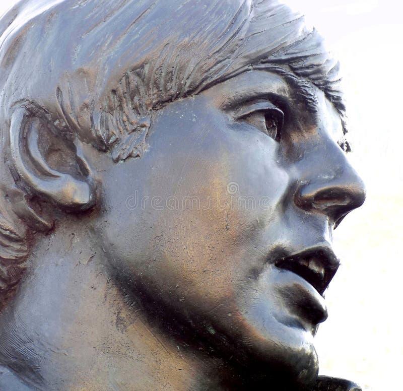 O Beatles Pier Head Liverpool Statue fotos de stock