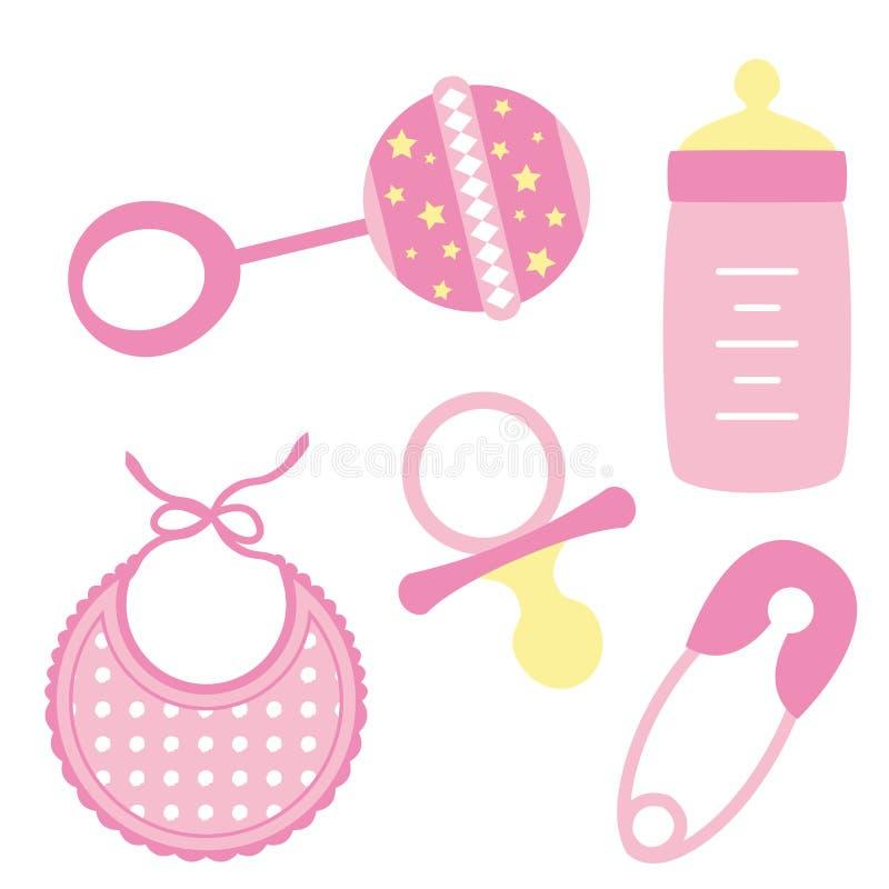 O bebê objeta a menina ilustração royalty free