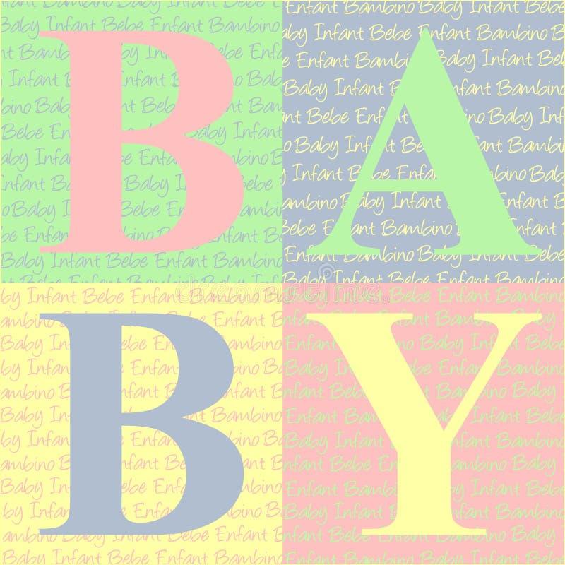 O bebê obstrui o cartão ilustração do vetor