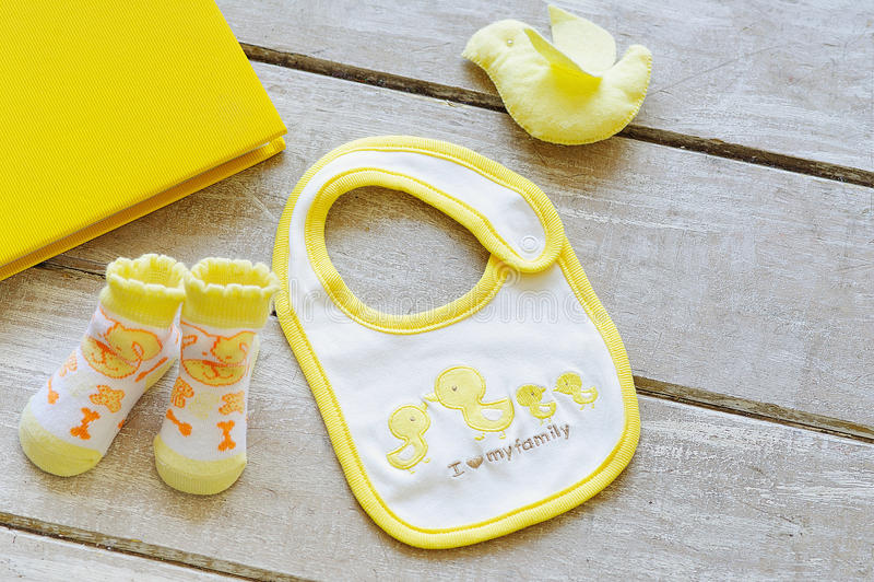 O bebê veste a vista superior foto de stock royalty free