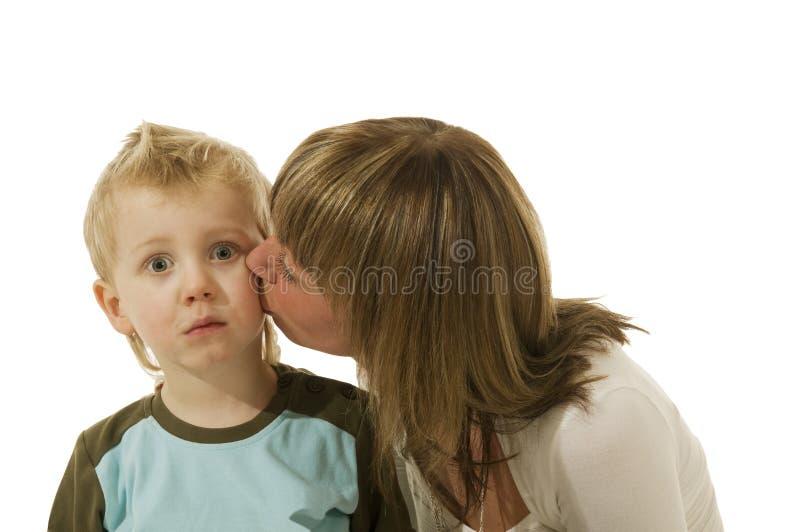 O beijo muito surprising foto de stock royalty free
