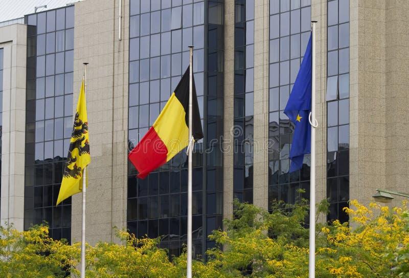 O belga embandeira Bruxelas fotografia de stock