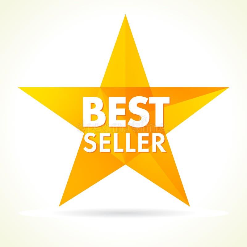 O bestseller concede o logotipo da estrela ilustração royalty free