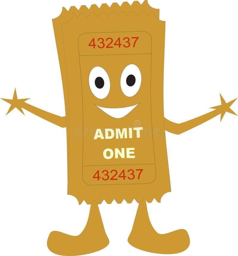 O bilhete admite um ilustração stock