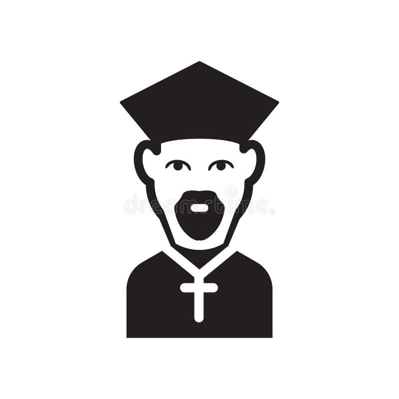 O bispo enfrenta o ícone O bispo na moda enfrenta o conceito do logotipo no backg branco ilustração royalty free