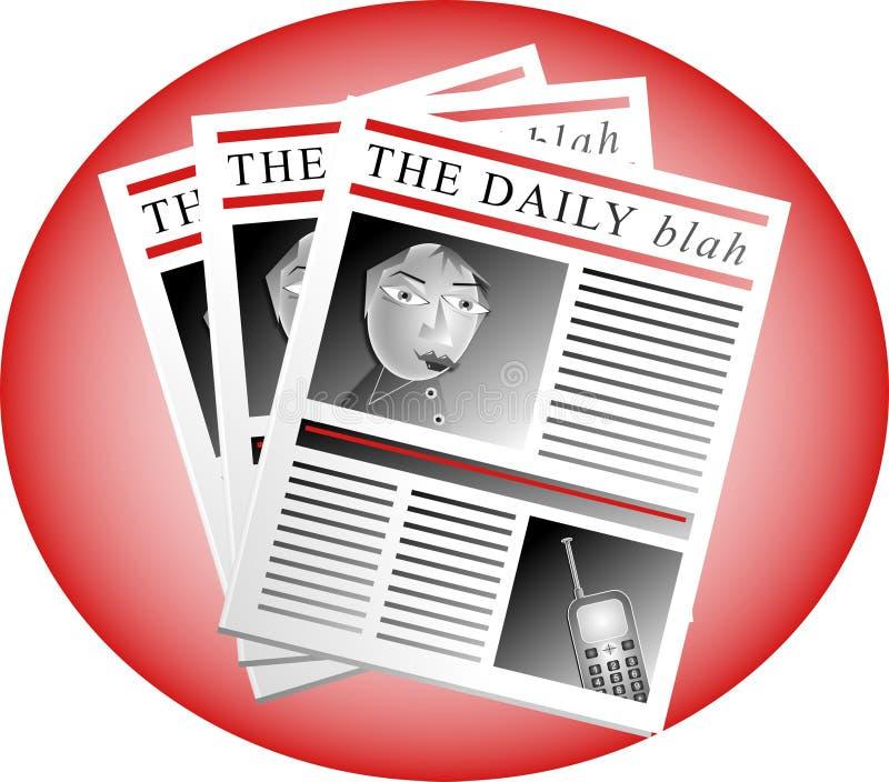 O blá diário ilustração royalty free