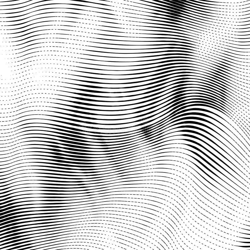 O bloco xilográfico abstrato denominou o fundo ilustração do vetor