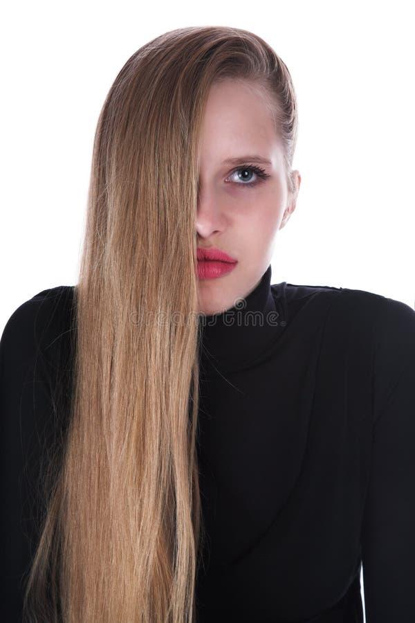 O blonde com cabelo longo imagens de stock