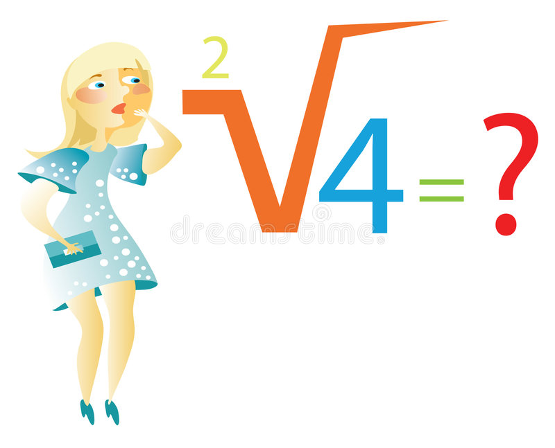 O Blonde resolve a fórmula matemática ilustração royalty free