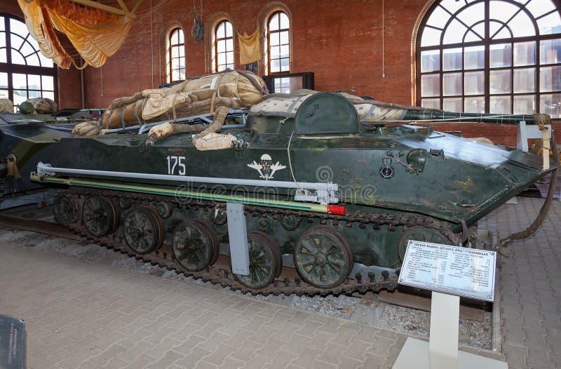 O BMD-1 é uma luta seguida anfíbia transportada por via aérea soviética da infantaria fotos de stock