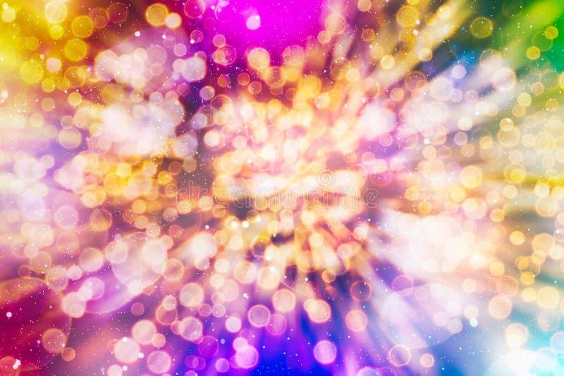 o boże narodzenie świąteczne Elegancki abstrakcjonistyczny tło z bokeh defocused gwiazdami i światłami ilustracji