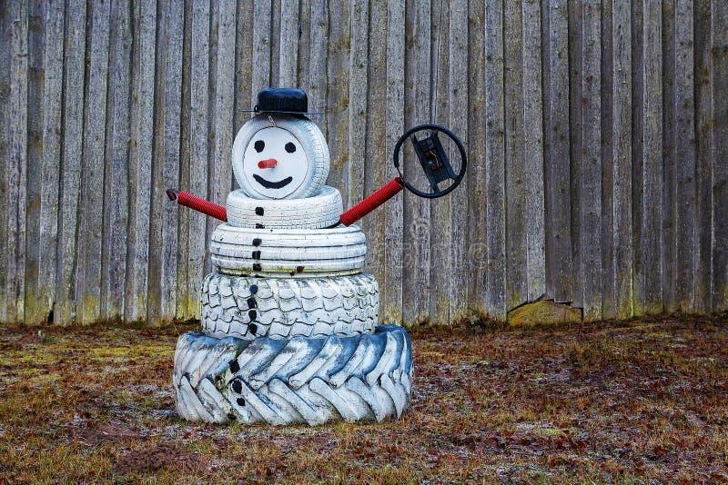 o boże narodzenie więcej człowiek śniegu jest nowy rok obraz stock