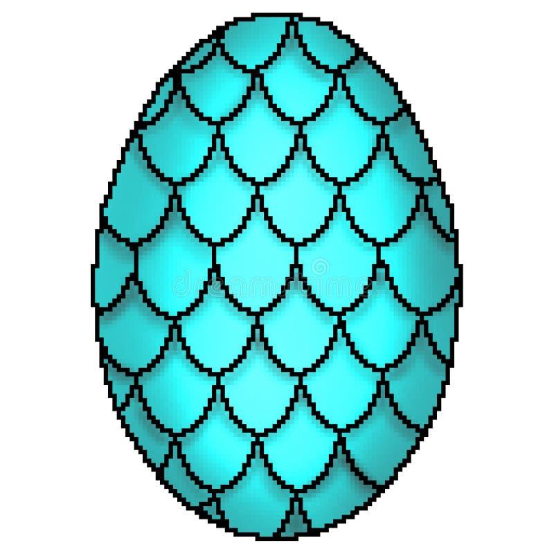 o bocado 8 tirado coloridamente projetou o ovo escalado do dragão ilustração royalty free