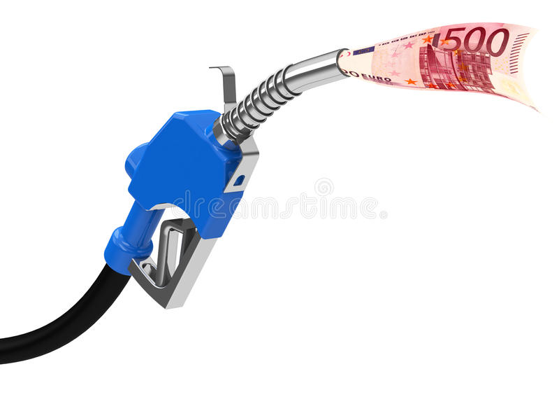 O bocal de combustível ilustração stock