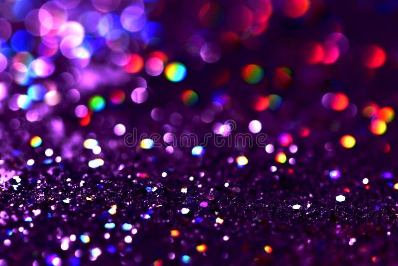 o bokeh Colorfull borrou o fundo abstrato para o aniversário, o aniversário, o casamento, a véspera de ano novo ou o Natal