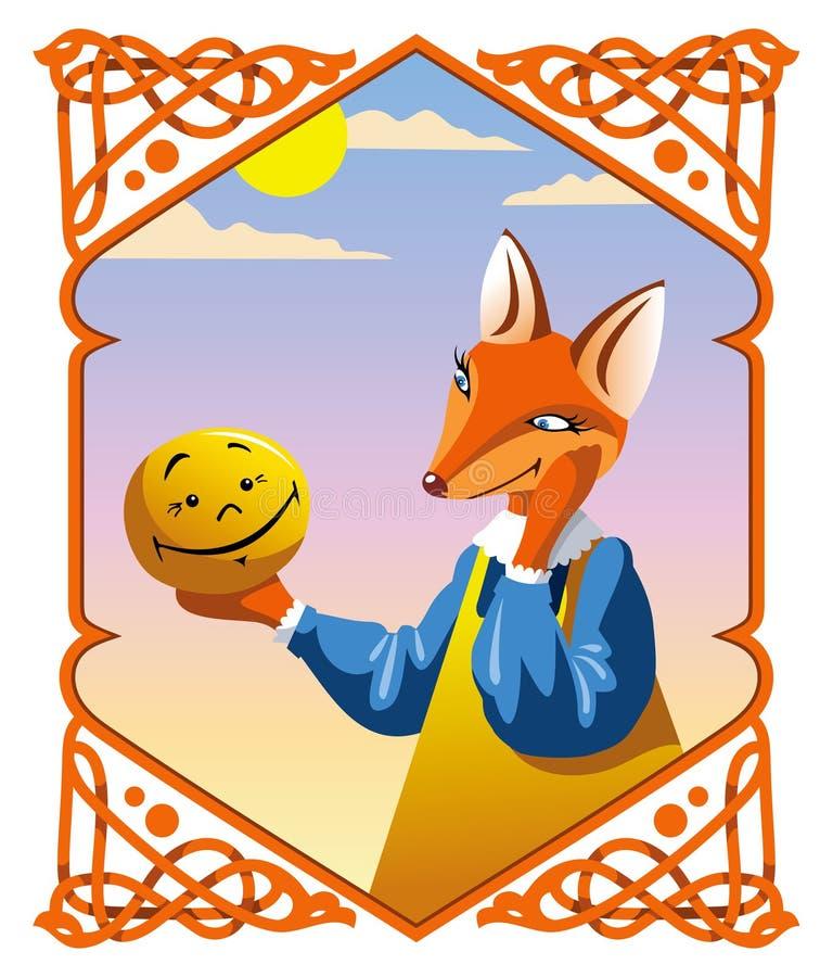 O bolo pequeno e o Fox ilustração do vetor