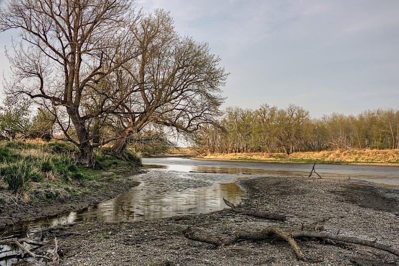 O bom parque estadual da terra é um parque estadual urbano na borda de Sioux Falls, área do metro de South Dakota fotografia de stock