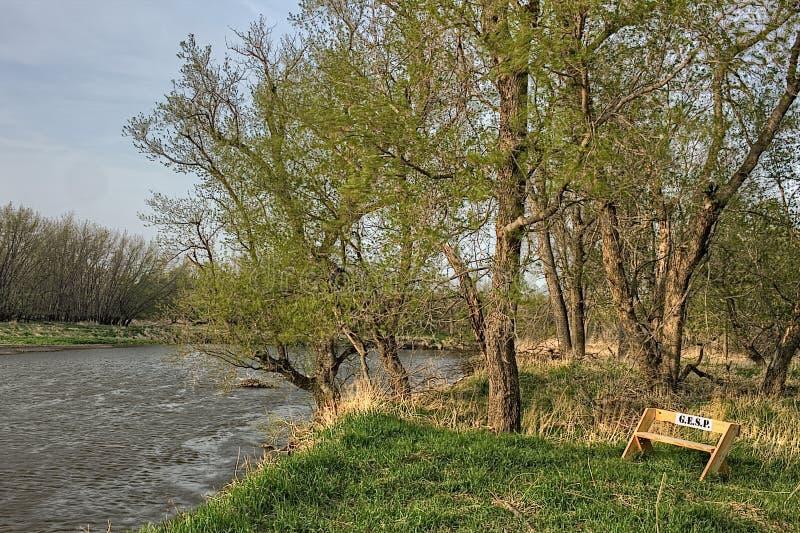 O bom parque estadual da terra é um parque estadual urbano na borda de Sioux Falls, área do metro de South Dakota fotos de stock royalty free