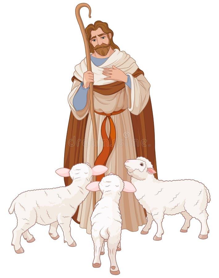 O bom pastor ilustração royalty free