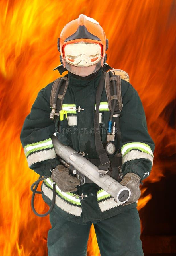 O bombeiro nos regimentals foto de stock royalty free