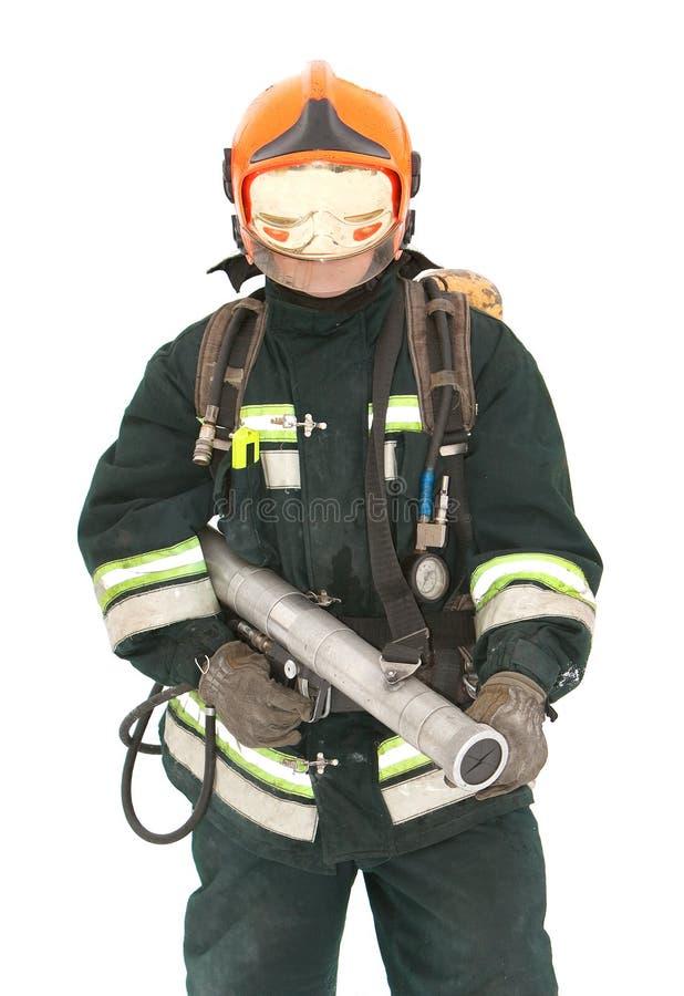 O bombeiro nos regimentals imagem de stock royalty free