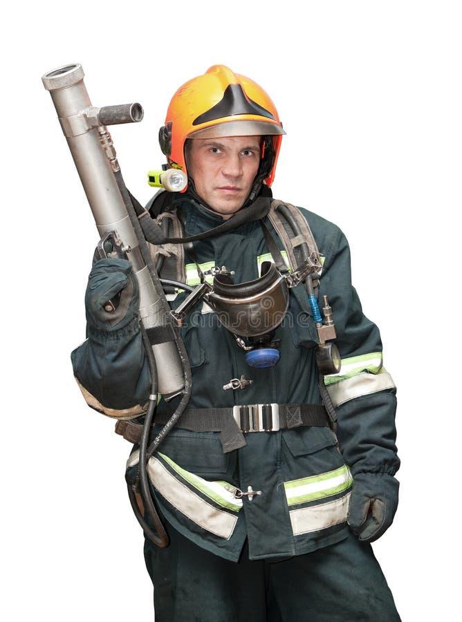 O bombeiro nos regimentals fotografia de stock