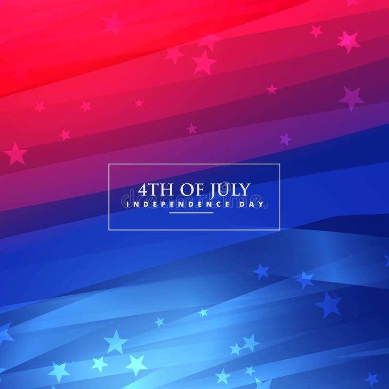 4o bonito do fundo de julho ilustração royalty free