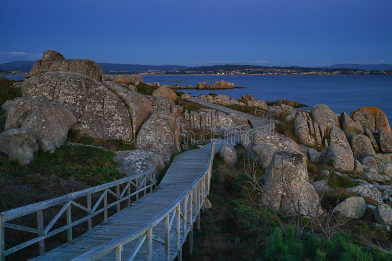 O Bosje, Galicië, Spanje stock afbeeldingen