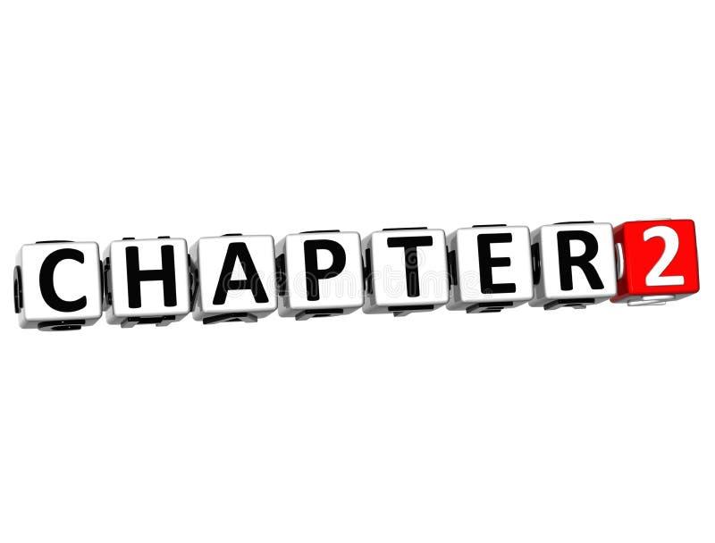 o botão do capítulo 3D clica aqui o texto do bloco ilustração royalty free