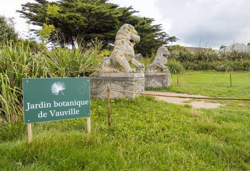 O botanique de Vauville de Jardin, é um jardim botânico privado perto de Beaumont-Haia em Vauville Normandy, France imagens de stock royalty free