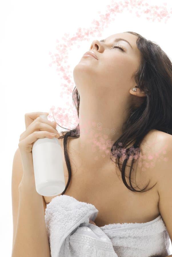 O braço da fragrância imagens de stock