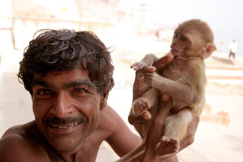O Brahman e o Hanuman foto de stock