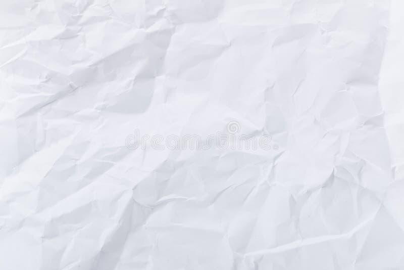 O branco amarrota o papel fotos de stock royalty free