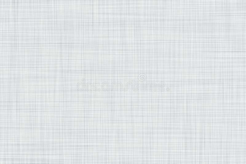 O branco coloriu o fundo de linho sem emenda da textura ou da tela ilustração stock