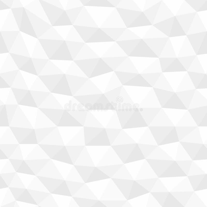 O branco distorceu a textura sextavada sem emenda Teste padrão geométrico decorativo dos polígono Fundo 3d abstrato ilustração royalty free
