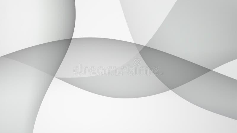 O branco espaça o molde abstrato da textura do fundo ilustração stock