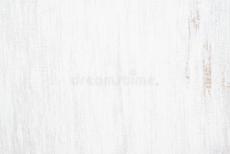 O branco pintou o fundo oxidado sem emenda do grunge da textura de madeira, riscou a pintura branca em pranchas da parede de made imagem de stock