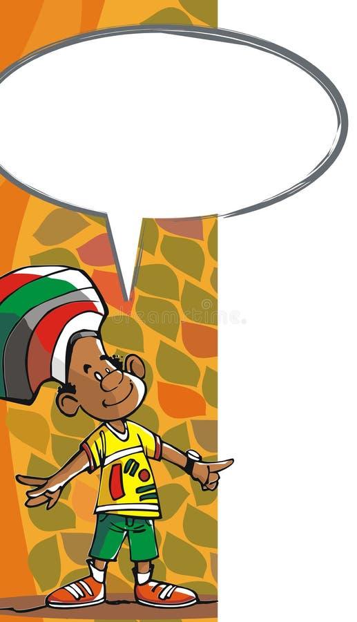 O brasileiro do menino ilustração do vetor