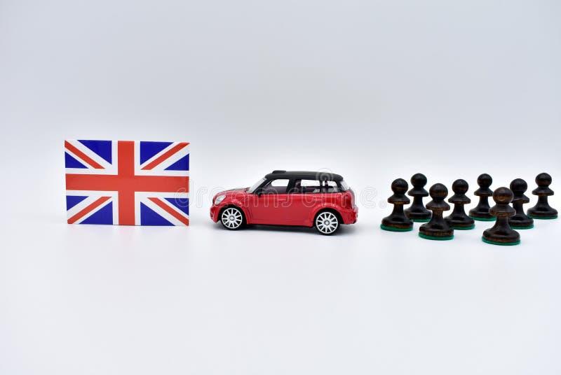 O Brexit e a bandeira do Reino Unido foto de stock